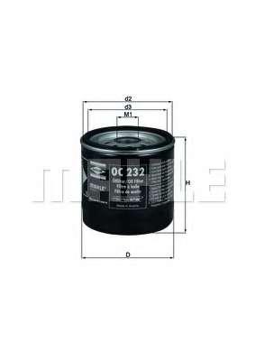 Масляный фильтр KNECHT OC 232