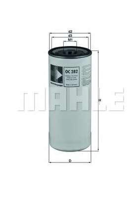 Масляный фильтр KNECHT OC 282