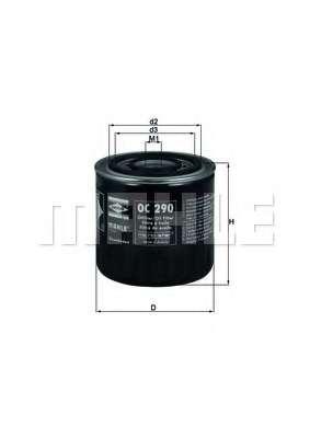 Масляный фильтр KNECHT OC 290