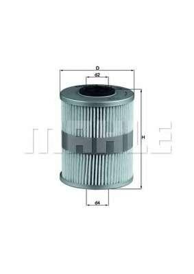 Топливный фильтр KNECHT KX 206D