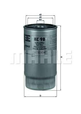 Топливный фильтр KNECHT KC 98