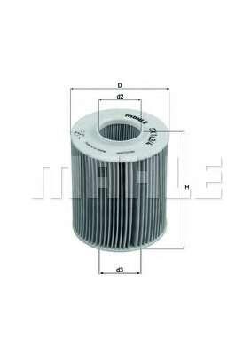 Масляный фильтр KNECHT OX 163/4D