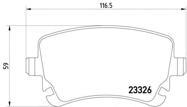 Комплект тормозных колодок, дисковый тормоз TEXTAR 2332601