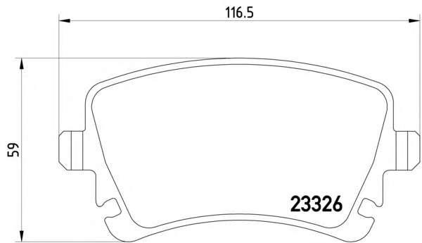 Комплект тормозных колодок, дисковый тормоз TEXTAR 2332602