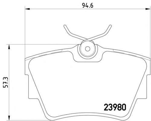 Комплект тормозных колодок, дисковый тормоз TEXTAR 2398001