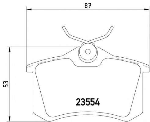 Комплект тормозных колодок, дисковый тормоз TEXTAR 2355402