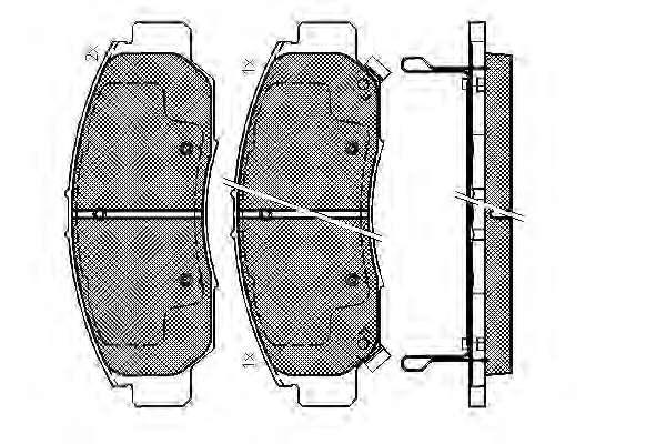 Комплект тормозных колодок, дисковый тормоз HONDA 45022-SDB-A00