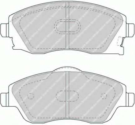 Комплект тормозных колодок, дисковый тормоз FERODO FDB1424