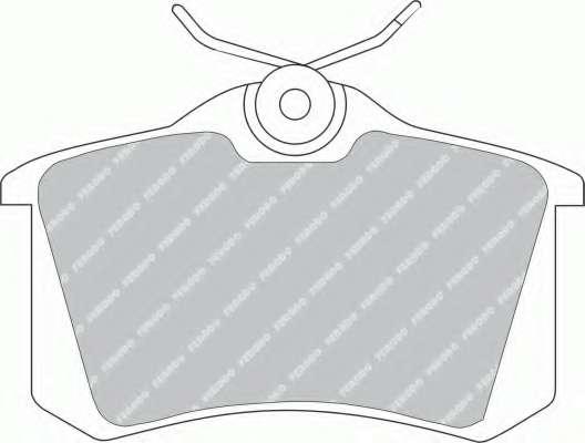 Комплект тормозных колодок, дисковый тормоз FERODO FDB541