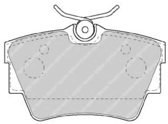 Комплект тормозных колодок, дисковый тормоз FERODO FVR1516