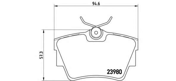 Комплект тормозных колодок, дисковый тормоз BREMBO P 59 041