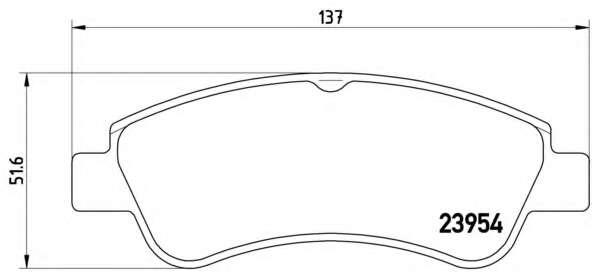 Комплект тормозных колодок, дисковый тормоз BREMBO P 61 066