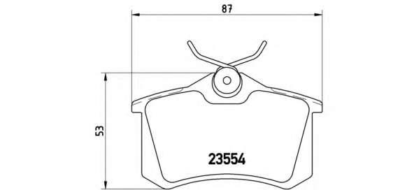 Комплект тормозных колодок, дисковый тормоз BREMBO P 85 020