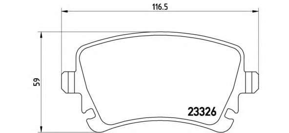 Комплект тормозных колодок, дисковый тормоз BREMBO P 85 083