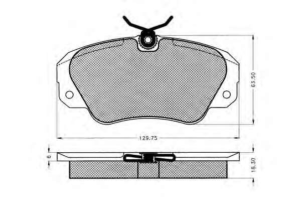 Комплект тормозных колодок, дисковый тормоз GENERAL MOTORS 90398116
