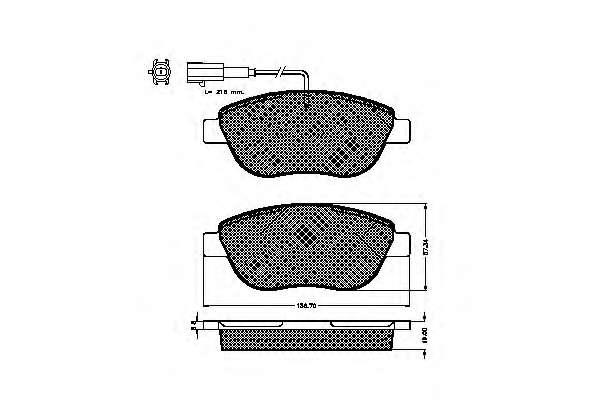 Комплект тормозных колодок, дисковый тормоз FIAT 7 736 537 9