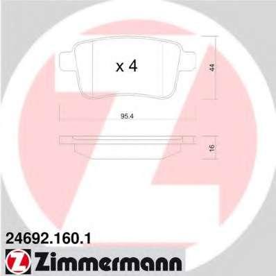 Комплект тормозных колодок, дисковый тормоз RENAULT 44 06 062 67R