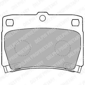 Комплект тормозных колодок, дисковый тормоз MITSUBISHI 4605A783