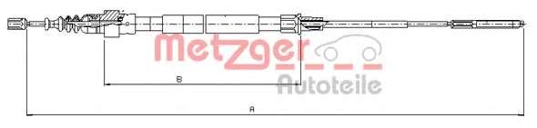 Трос, стояночная тормозная система METZGER 10.7492