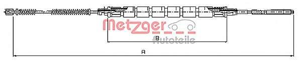 Трос, стояночная тормозная система METZGER 10.9031