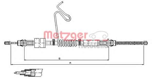 Трос, стояночная тормозная система METZGER 11.5669
