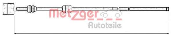 Трос, стояночная тормозная система METZGER 11.5760