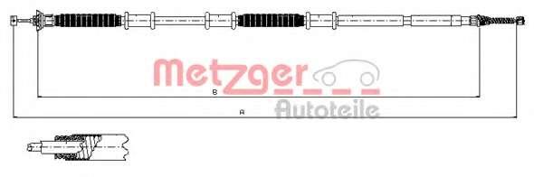 Трос, стояночная тормозная система METZGER 12.0736