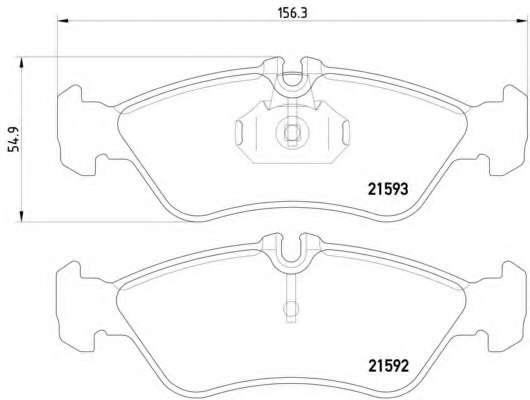 Комплект тормозных колодок, дисковый тормоз MERCEDES-BENZ A0044202720