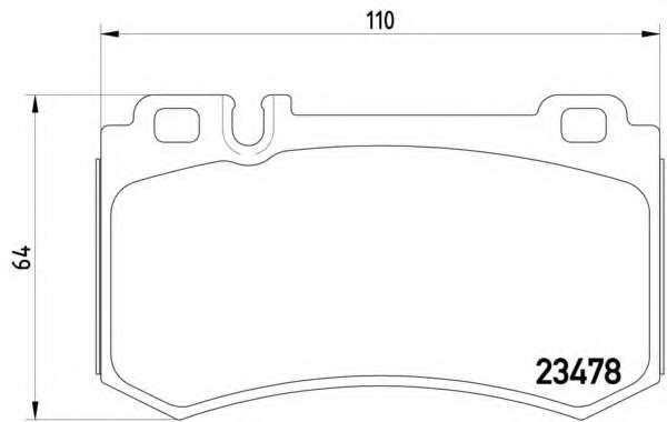 Комплект тормозных колодок, дисковый тормоз MERCEDES-BENZ A0054206720