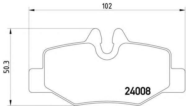 Комплект тормозных колодок, дисковый тормоз MERCEDES-BENZ A0064204420