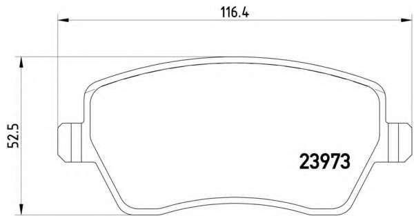 Комплект тормозных колодок, дисковый тормоз RENAULT 410608481R