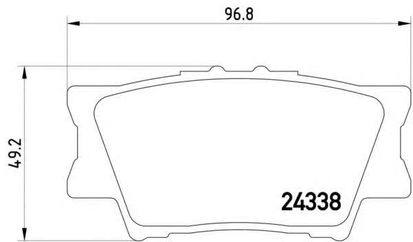 Комплект тормозных колодок, дисковый тормоз TOYOTA 0446633200