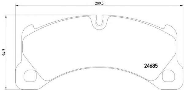 Комплект тормозных колодок, дисковый тормоз VOLKSWAGEN 7P5698151