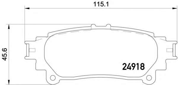 Комплект тормозных колодок, дисковый тормоз LEXUS 044660E010