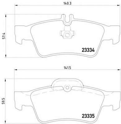 Комплект тормозных колодок, дисковый тормоз MERCEDES-BENZ A0054209420