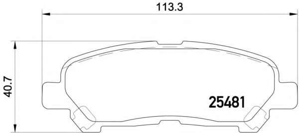 Комплект тормозных колодок, дисковый тормоз TOYOTA 0446648120