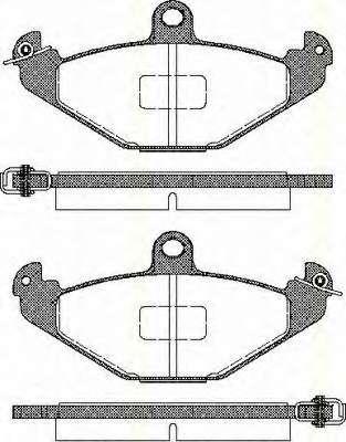 Комплект тормозных колодок, дисковый тормоз RENAULT 77 01 203 726