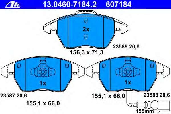 Комплект тормозных колодок, дисковый тормоз VOLKSWAGEN 5K0 698 151