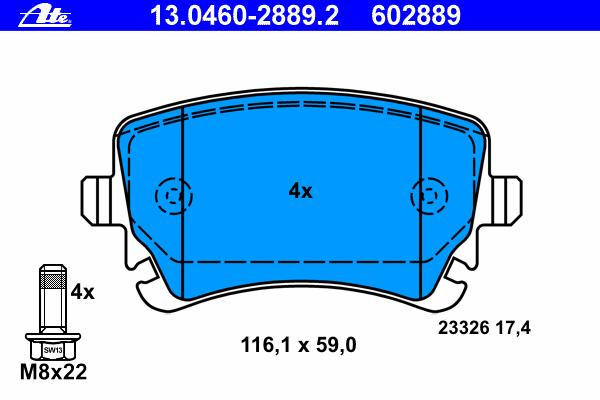 Комплект тормозных колодок, дисковый тормоз VOLKSWAGEN 7H0 698 451 A