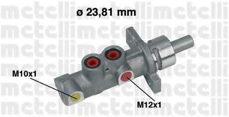 Главный тормозной цилиндр METELLI 05-0358