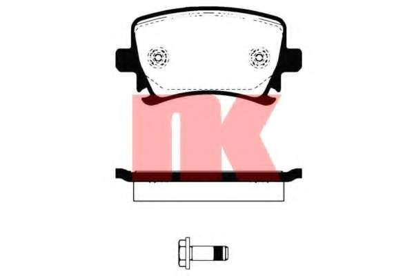 Комплект тормозных колодок, дисковый тормоз VOLKSWAGEN 1K0 698 451 G
