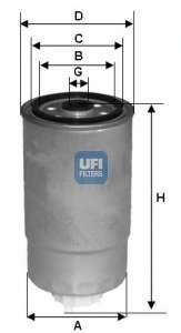 Топливный фильтр UFI 24.351.00