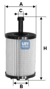 Масляный фильтр UFI 25.023.00