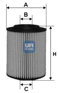 Масляный фильтр UFI 25.027.00