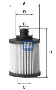 Масляный фильтр UFI 25.031.00