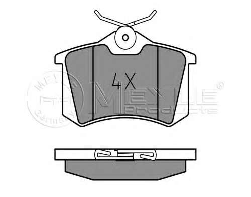 Комплект тормозных колодок, дисковый тормоз MEYLE 025 209 6117
