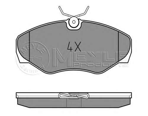 Комплект тормозных колодок, дисковый тормоз MEYLE 025 230 9918