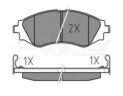 Комплект тормозных колодок, дисковый тормоз CHEVROLET 96446742