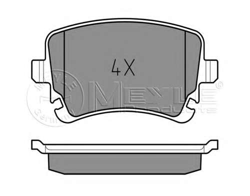 Комплект тормозных колодок, дисковый тормоз MEYLE 025 233 2617