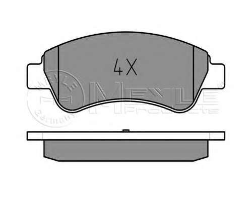 Комплект тормозных колодок, дисковый тормоз MEYLE 025 235 9919